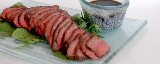 This is Japanese roast beef, served rare in a delicious Asian marinade. I was surprised how inexpensive Wagyu was on...