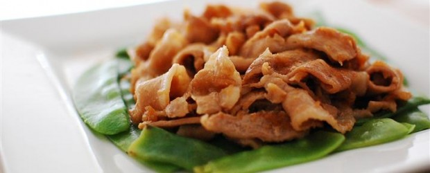 This easy and quick dish uses an apple to make the meat softer and more tender. You can find pork...